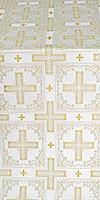 Iveron silk (rayon brocade) (white/gold)