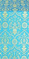 Prestol metallic brocade (blue/gold)