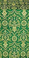 Prestol metallic brocade (green/gold)