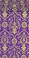 Prestol metallic brocade (violet/gold)