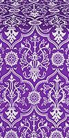 Prestol silk (rayon brocade) (violet/silver)