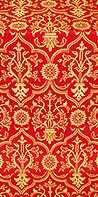 Prestol silk (rayon brocade) (red/gold)
