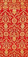 Prestol metallic brocade (red/gold)
