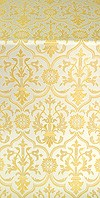 Prestol silk (rayon brocade) (white/gold)