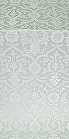 Prestol metallic brocade (white/silver)