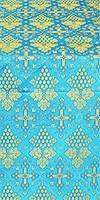 Vine silk (rayon brocade) (blue/gold)