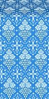 Vine silk (rayon brocade) (blue/silver)