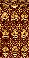 Vine metallic brocade (claret/gold)