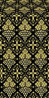 Vine metallic brocade (black/gold)