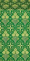 Vine silk (rayon brocade) (green/gold)