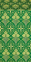 Vine metallic brocade (green/gold)