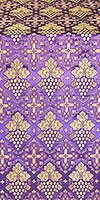Vine metallic brocade (violet/gold)