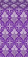 Vine metallic brocade (violet/silver)