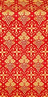 Vine silk (rayon brocade) (red/gold)