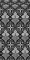 Vine metallic brocade (black/silver)