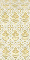 Vine metallic brocade (white/gold)