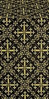 Soloun silk (rayon brocade) (black/gold)