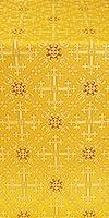 Soloun silk (rayon brocade) (yellow/gold)