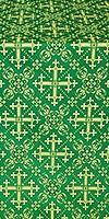 Soloun silk (rayon brocade) (green/gold)