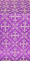Soloun silk (rayon brocade) (violet/gold)