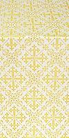 Soloun silk (rayon brocade) (white/gold)