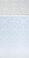 Soloun silk (rayon brocade) (white/silver)
