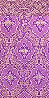 Don silk (rayon brocade) (violet/gold)