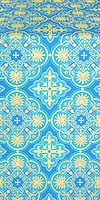 Pskov metallic brocade (blue/gold)