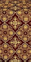 Pskov metallic brocade (claret/gold)