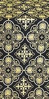 Pskov metallic brocade (black/gold)