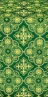 Pskov metallic brocade (green/gold)