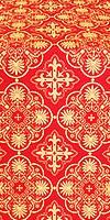 Pskov metallic brocade (red/gold)