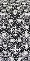 Pskov metallic brocade (black/silver)