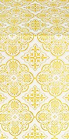 Pskov silk (rayon brocade) (white/gold)