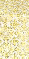 Pskov metallic brocade (white/gold)