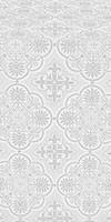 Pskov silk (rayon brocade) (white/silver)