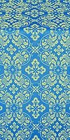 Rostov silk (rayon brocade) (blue/gold)