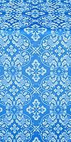 Rostov silk (rayon brocade) (blue/silver)
