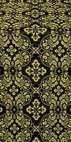 Rostov silk (rayon brocade) (black/gold)