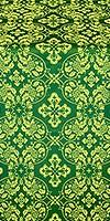 Rostov silk (rayon brocade) (green/gold)