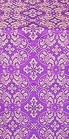 Rostov silk (rayon brocade) (violet/gold)