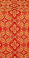 Rostov silk (rayon brocade) (red/gold)