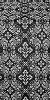 Rostov silk (rayon brocade) (black/silver)