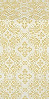 Rostov silk (rayon brocade) (white/gold)