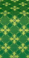 Podolsk silk (rayon brocade) (green/gold)