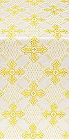 Podolsk silk (rayon brocade) (white/gold)
