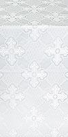 Podolsk silk (rayon brocade) (white/silver)