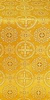 Carpathian silk (rayon brocade) (yellow/gold)