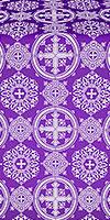 Carpathian silk (rayon brocade) (violet/silver)