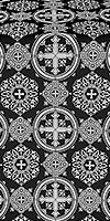 Carpathian silk (rayon brocade) (black/silver)